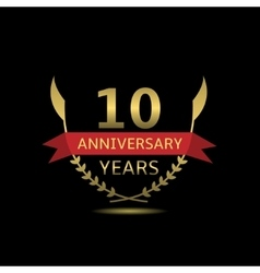 10 Anniversary years vector image