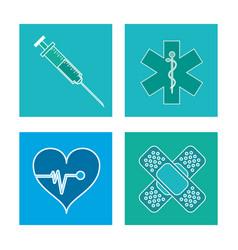 set healthcare medical symbol vector image