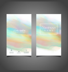 Watercolour business card design vector