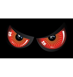 Evil red eyes vector