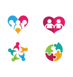 Community network and social icon design template vector