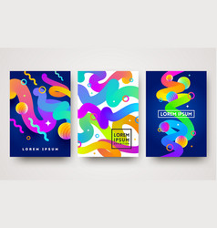 Set of abstract multicolored vector