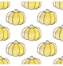 Autumn pattern with pumpkins vector