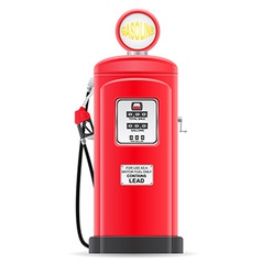 Gasoline filling old retro vector