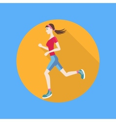 Running woman vector