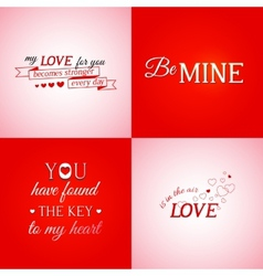 Set of typographic design elements vector