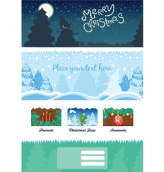 Modern christmas background vector