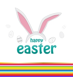 Happy easter cards with easter bunny easter rabbit vector