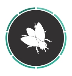 Insect computer symbol vector