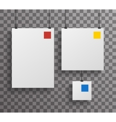 A4 Square Paper Big Little Realistic Poster Icon vector image vector image
