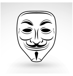 Anonymous mask icon hacker logo design vector