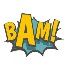 Bam comic book explosion icon isolated vector