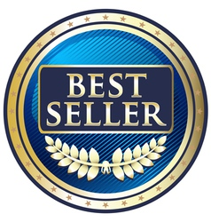 Best Seller Blue Label vector image vector image