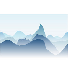blue mountains in the fog seamless vector image vector image