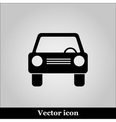 Car icon on grey background vector image vector image