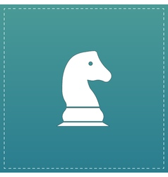 Chess knight icon vector