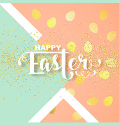 easter card with calligraphic greeting vector image vector image