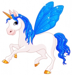 fairy tail horse vector image vector image