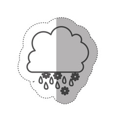 figure cloud rainning and snowing icon vector image