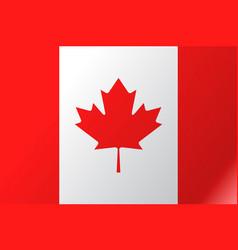 Flag canada flat icon vector