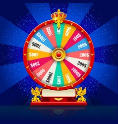 fortune wheel realistic spinning lucky roulette vector image