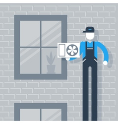House cooling system vector image vector image