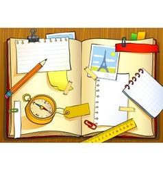 Notebook of traveler vector