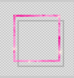 pink paint glittering textured frame on vector image vector image