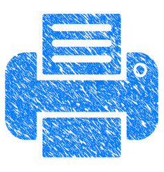 printer grunge icon vector image