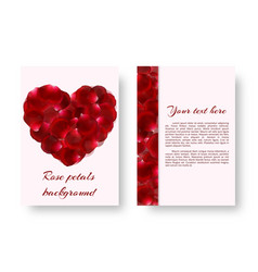 red heart with rose petals vector image vector image