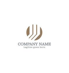 round shape company logo vector image vector image