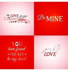 Set of typographic design elements vector