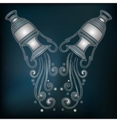 Silver amphora zodiac aquarius sign vector