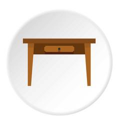 Table icon circle vector
