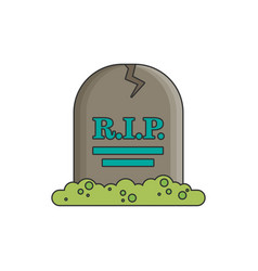 tombstone flat vector image
