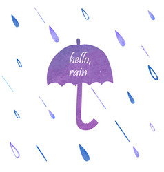 Umbrella watercolor silhouette vector