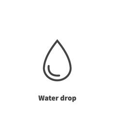 water drop icon symbol vector image