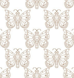 Butterfly patterned background vector