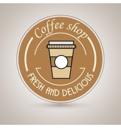 Coffee shop fresh and delicious vector