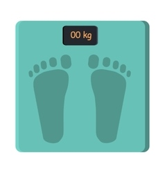 Bathroom foot scale isolate weight control vector