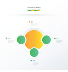 Circle overlap design green yellow color vector
