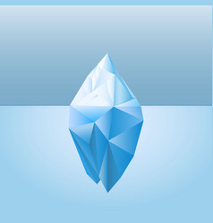 Low poly style iceberg for infographic vector