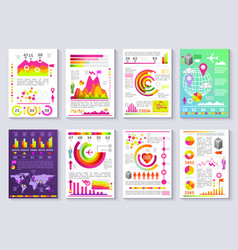 Graphical business report template modern vector