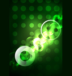 Glowing circles in the dark vector
