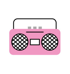 radio music player icon vector image
