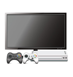 Game console with tv vector