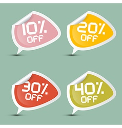 Ten - twenty thirty and forty percent off discount vector