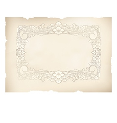 vintage frame old paper drawing vector image