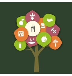 Tree with food vector image