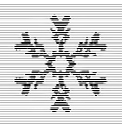 Black snowflake optical vector